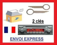 2 Clé extraction démontage façade autoradio audi concert 2 trous a3 a4