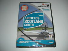 VFR AIRFIELDS Scotland South Vol. 2 Pc Cd Add-On Flight Simulator Sim X FSX NEW