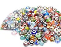 Wholesale Lampwork Glass Charm Beads For Womens Ladies European Charm Bracelets