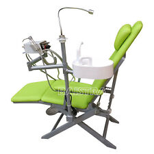 Dental Portable Folding Chair +Turbine Unit +LED Light + Triple Syringe DHL Ship