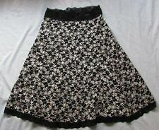 CAbi womens Med black white eyelet a line stretchy skirt style #949 FAB