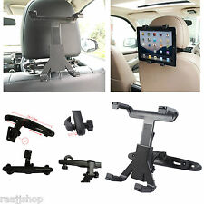 UNIVERSAL IN CAR BACK SEAT HEADREST IPAD TABLET HOLDER MOUNT CRADLE SAFETY LOCK