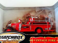 MATCHBOX DIECAST COLLECTIBLES-1932 FORD MODEL AA  OPEN CAB FIRE ENGINE-1:43- NIP