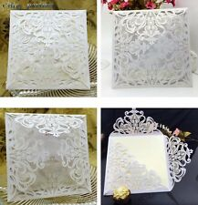24PCS Laser Cut Wedding Invitations Cards Engagement Marriage Party Invitation