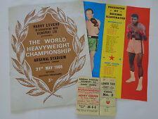 MUHAMMAD ALI V HENRY COOPER RARE ORIGINAL 1966 PROGRAMME,PULLOUT AND TICKET