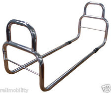 Safety Bed Grab Rail - Transfer Aid - Mobility Aid - Living Aid - Chrome