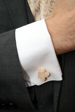 Wood (unpainted) Carcassonne Meeple Cufflinks