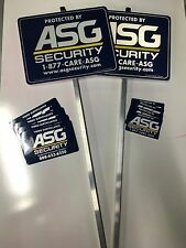 Security System Signs (yard) & Window/door Stickers