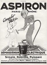 PUBLICITE  ASPIRATEUR ASPIRON OURSON OURS BEAR CUB RENE VINCENT ART DECO AD 1926