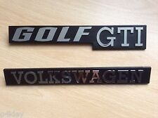 "MK1 GOLF GTI, LS, GLS, GX,JETTA ""GOLF GTI""VOLKSWAGEN"" TAILGATE"" BADGE EXCELLENT"
