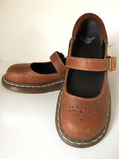 Dr Doc Martens 11668 Docs Mary Jane Single Buckle Brown Shoes Flats US 6.5 UK 4