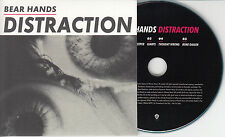BEAR HANDS Distraction Sampler 2014 UK 5-trk promo test CD