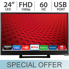 """VIZIO 24"""" inch 1080p FULL HD 60Hz Razor Smart LED LCD TV w/ Wi-Fi & USB - E24-C1"""