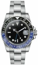 PARNIS GMT 11 / SUBMARINER WATCH CERAMIC BLUE / BLACK BEZEL SS - STUNNING