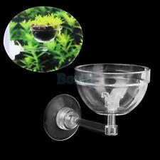 Aquatic Plant Pot Bowl Holder w/ Suction Cup for Aquarium Fish Tank Live Plant