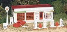 New In Box Plasticville HO TEXACO / SHELL  Gas Station & Accessories