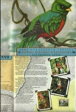 NATIONS UNIES UNITED NATIONS FAUNE FAUNA OISEAUX QUETZAL BIRDS VÖGEL** 2001 40€