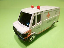 EDOCAR 25 MERCEDES BENZ 307D - AMBULANCE GG&GD - PROMO WHITE 1:65? - GOOD