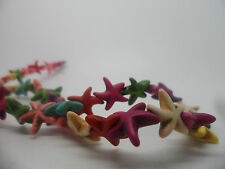 20 x gemstone, Starfish beads,,Howlite 15x15x5mm#Dyed Mixed Colours