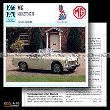 #110.02 MG MIDGET MK III (MK3) 1966-1970 - Fiche Auto Car Classic card