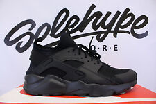 NIKE AIR HUARACHE RUN ULTRA TRIPLE BLACK 819685 002 SZ 12