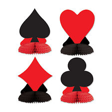 Card Suit Centrepieces - Casino Table Decoration - Playing Card Suit Decorations