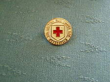 OLD BRITISH RED CROSS SOCIETY ASSOCIATE ENAMEL BADGE - GAUNT - TYPE 2