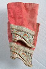 Antique 19thC Chinese small LOTUS shoes Silk Embroidery Bound feet, Foot-binding