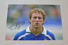 Jean-Pierre Papin Signed 12x8 Photo Autograph Genuine France Memorabilia + COA