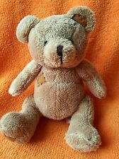George asda brown bear baby comforter soft toy patches to foot ear & chest 6""
