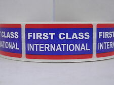 FIRST CLASS INTERNATIONAL USPS 1x2  Stickers Labels 500/roll