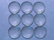 20 Round Glass Dome Cabochons - 35mm - Clear Magnifying Pendant Cab - 1 3/8""