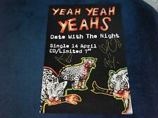 YEAH YEAH YEAHS SIGNED POSTER