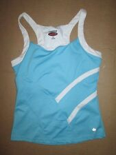 Womens BOLLE tank top w/ built in sports bra M Md Med yoga running workout