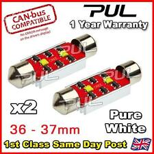 2x ERROR FREE CANBUS Pure White 2 CREE LED 36mm 239 272 C5W NUMBER PLATE BULB