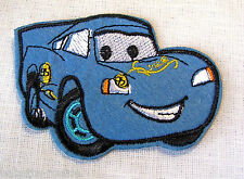 ECUSSON PATCH BRODE thermocollant VOITURE CARS BLEU ** 6 x 8,5 cm ** Enfant
