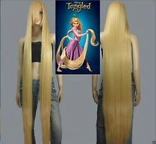 HOT! Disney Movie Tangled Rapunzel long blonde cosplay wavy wig 150cm #g020