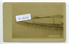 Winthrop MA Mass RPPC real photo tiny steam engine, railroad, Crystal Cove early