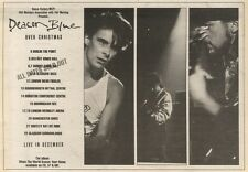 2/12/89Pgn22 Advert: 'deacon Blue Over Christmas' Live In December'89 7x11