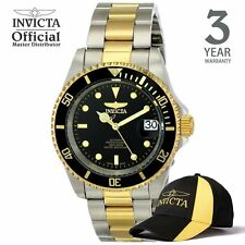 Invicta Pro Diver Automatic Men Gold IP 40mm Stainless Steel Watch 8927OB w/ Hat