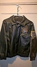 Avirex Twin Dragon Bomber Leather Jacket Sz M