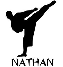 KARATE wall decal stickers personalized with your NAME