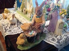 Bethany Lowe Easter Rabbit Painting Eggs