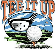"""GOLF: """"TEE IT UP"""" on ONE 18 x 22 Fabric Panel. To Quilt &Sew, SALE!"""