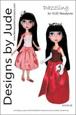 Dazzling Doll Clothes Sewing Pattern for Maudlynne & LittleMissMatched Dolls