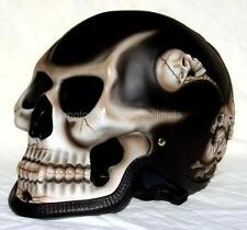 Motorcycle Helmet Skull Skeleton Death Ghost Rider Full Face Airbrush  3D New