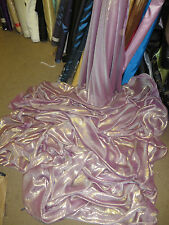 "1M SHIMMER  TWO TONE LILAC PINK NEW  DRESS CHIFFON FABRIC 58"" WIDE"