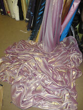 "6M SHIMMER  TWO TONE  PINK NEW  DRESS CHIFFON FABRIC 58"" WIDE"