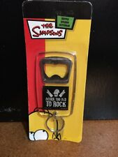 "SIMPSONS ""Never Too Old to Rock"" Homer Bottle Opener Keychain 2007 - New in pack"