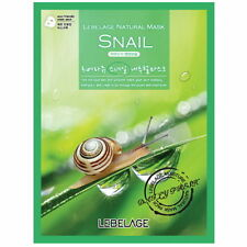 3 Pcs Snail Lebelage Natural Mask Facial Essence Sheet Pack Korea Beauty